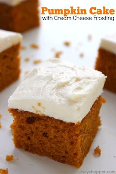 This homemade Pumpkin Cake with Cream Cheese Frosting recipe will make for a perfect fall dessert. This super moist cake is so easy to whip up for Thanksgiv