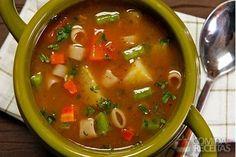 Receita de Sopa de carne com legumes especial - Comida e Receitas