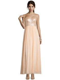 Laona Abendkleid im Empire-Stil mit Pailletten - Apricot