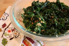 Recipe for Whole Food's Emerald Sesame Kale Salad. I love this stuff!