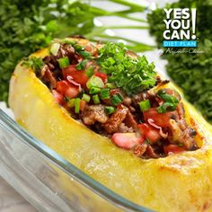 Stuffed Potato - A healthy option for your Yes You Can! Diet Plan lunch
