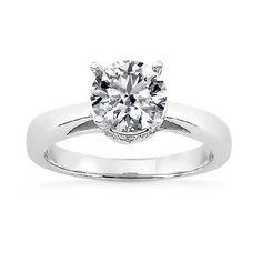2,00 ct a taglio brillante solitario in oro bianco con diamanti, Oro bianco, cod. BH-FGUS210052