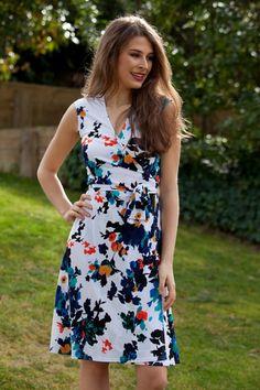 Rebecca Ruby Sleeveless Wrap Dress - Womens Knee Length Dresses at Birdsnest