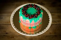 Flamme Cake Red/Green 2x by lililoveme.by