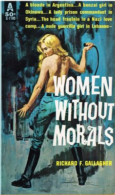 3583 best Paperback book covers images on Pinterest   Pulp art  Book     Women without Morals pulp novel