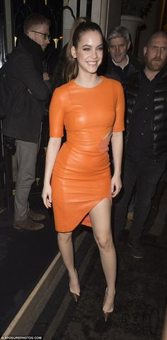 Be bold like Barbara in orange this season   Click 'visit' to buy it now  #DailyMail