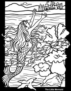 Hans Christian Andersen Fairy Tales Stained Glass Coloring Book pages
