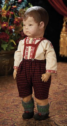 """Early German Cloth Doll by Kathe Kruse Known as """"Froghand"""". Lot #351"""