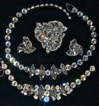 Eisenberg Parure - Necklace, Bracelet Brooch & Clip On Earrings - Signed