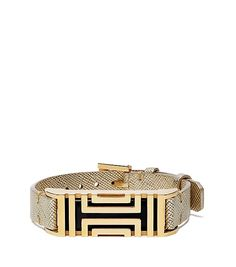 8b321bd8737f Tory Burch Tory Burch For Fitbit Metallic Leather Bracelet gold