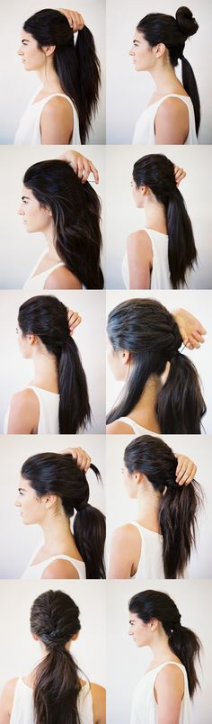 DIY TOUSLED LAYERED PONYTAIL #hairtutorial #howto #hairstyle