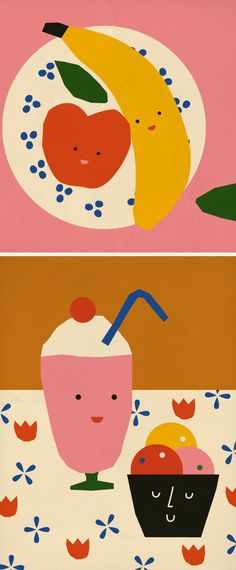 A series of small illustrations created for the BBC by Anna Kövecses