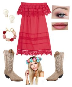 """Head Over Boots"" by brooklynb39 on Polyvore featuring Sea, New York, Twisted X Boots, Boohoo, Oscar de la Renta and Kate Spade"