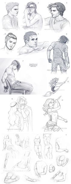 Sketches from September and till today (: 1. Kai and Val actually were very cute sometimes (past tense cause they've broken up last month) 2. Val being sexy as hell 3. remember female version...