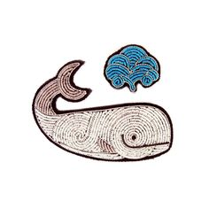 ":D WHALEEE! HAND-EMBROIDERED ""MOBY DICK"" BROOCHES - Macon&Lesquoy"