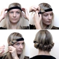 How to Style No-Heat Curls with a Headband   -  MM sez : dearie me -  what goes around comes around ~ ~ ~ ALWAYS!!!!!