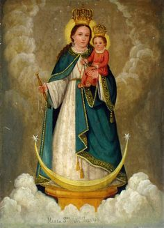 I couldn't  let Mothers Day go by without pinning  this beautiful painting of the Blessed Mother Mary and Baby Jesus.