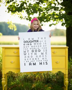 OVERSIZED  22x28 poster I am a daughter of a by IScreenYouScreen, $44.00
