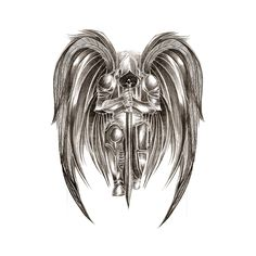 """Képtalálat a következőre: """"warrior archangel michael tattoo"""" Lines Tattoo, 4 Tattoo, Blue Tattoo, Body Art Tattoos, Sleeve Tattoos, Dream Tattoos, Sword Tattoo, Tattoo Wings, Tattoo Sleeves"""