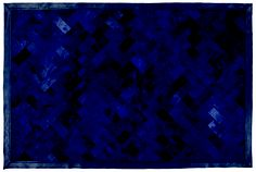 """Edelman Leather """"piazza"""" cowhide rug in Navy with All Grain border."""