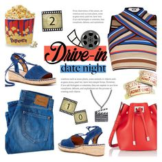 """""""Drive-In Date Night"""" by alexandrazeres ❤ liked on Polyvore featuring MSGM, Michael Kors, Franco Sarto, Chanel, DateNight, drivein and summerdate"""