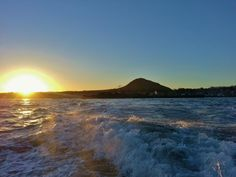 Sunny morning in the Forth, beautiful view of North Berwick Law
