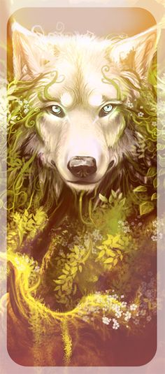 Wolf art. Really cool <3