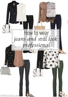 How to wear jeans to work and still look professional | 40+ Style - How to look and feel great over 40! | Bloglovin'
