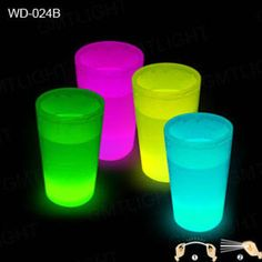 Glow in the dark party glasses!  Great for cookouts/sleepover parties.
