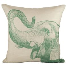 I pinned this Elephant Pillow from the Creature Comforts event at Joss and Main!
