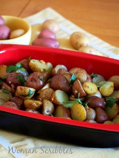 This roasted mini potatoes is an easy dish to prepare but it packs amazing flavor of garlic in a simple, one baking dish entree.