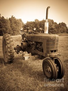The old tractor.  Vintage look.