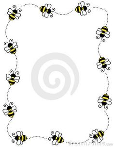 Bug Border Clip Art Free | Bee Border Frame Royalty Free Stock Image - Image: 12202246