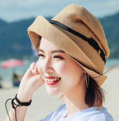 Package wide brim bucket hat for women bow straw sun hats 8a63ca8663cb