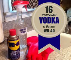 16 Reasons Vodka is the New WD-40 - Household tips & lifehacks using vodka!