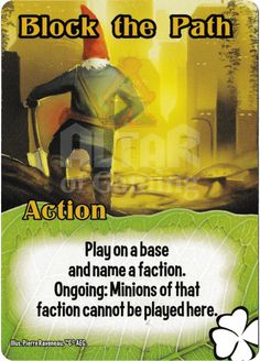 Block the Path - Tricksters - Smash Up Card | Altar of Gaming