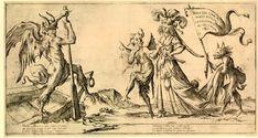 Giuseppe Maria Mitelli (1634-1718), 'Mira qui come va senza ritengo la cecitade humana al cieco regno', 1679  Source