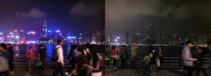 Earth Hour is sweeping across Asia! Lights switching off in Hong Kong, Singapore, Philippines and Malaysia. Check out Hong Kong before and after...