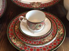 Noritake Royal Hunt China for Holiday Dinners  by KQMDesigns, $675.00