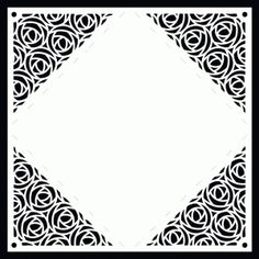 4 sided rose lace letter surround by Bird svg