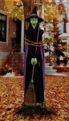 """TIE-A-WITCH TO A TREE WRAP DECORATION HALLOWEEN SCENE SETTER PROP 14X60"""""""