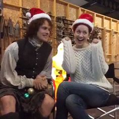 Sam Heughan and Caitriona Balfe From The Outlander Q&A Video   Outlander Online 12/19/2015