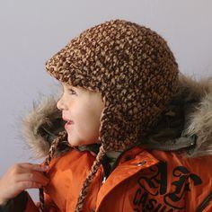 Earflap Hat from leilaandben, Etsy.  Crochet Pattern, instant download