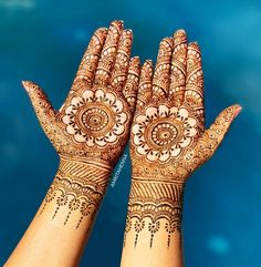 Throwback to Smita's Bridal Henna Mandalas. What a fun day doing poolside photography with the gorgeous Bride ❤️ New Bridal Mehndi Designs, Mehndi Designs For Hands, Henna Tattoo Designs, Bridal Henna, Henna Mehndi, Henna Art, Mehendi, Mehndi Ceremony, Mehndi Design Images
