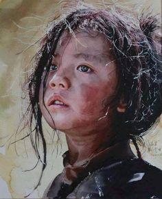La acuarela casi hiperrealista de Liu Yunsheng