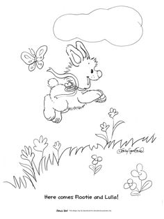 lulla and flootiejpg 27003600 - Suzy Zoo Coloring Pages