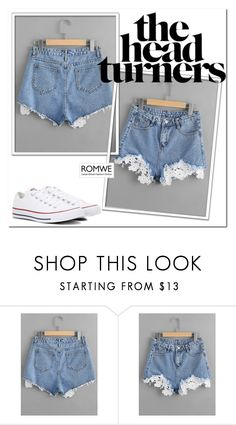 """ROMWE"" by queen-317 ❤ liked on Polyvore featuring Converse"