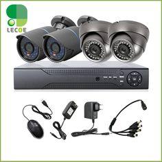 4CH CCTV Kit DVR HDMI 1200TVL IR Weatherproof Outdoor HD Analog Cameras Home Security Surveillance System #Affiliate