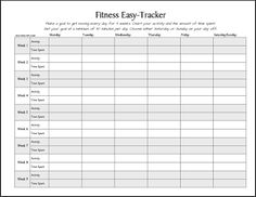 Workout Log Sheet | FREE Printable: Fitness Easy-Tracker