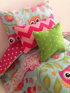 Hey, I found this really awesome Etsy listing at https://www.etsy.com/listing/203312057/doll-bedding-owl-print-for-18-inch-dolls